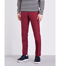 Slowear Slim Fit Tapered Linen Blend Chinos Raspberry