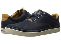 Skechers Relaxed Fit Palen Alesco Navy Leather Men's Lace Up Casual Shoes Blue