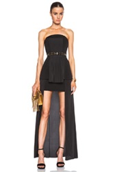 Sass And Bide See Then Saw Strapless Dress With Pleats In Black