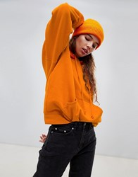 Weekday Oversized Hoodie In Burnt Orange Burnt Orange