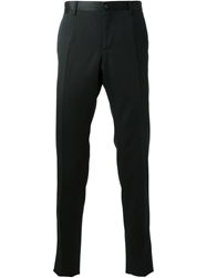 Dolce And Gabbana Satin Piped Tailored Trousers Black