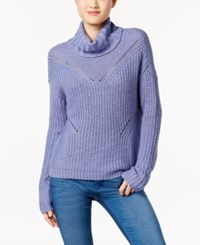 American Rag Cutout Back Turtleneck Sweater Only At Macy's Bleached Denim