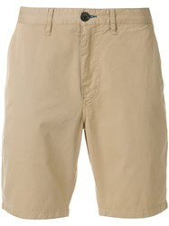 Paul Smith Ps By Chino Shorts Men Cotton Spandex Elastane 38 Nude Neutrals