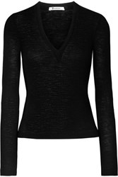 Alexander Wang T By Ribbed Wool Sweater Black