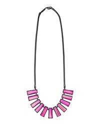 Kendra Scott Angelina Pink Agate Bib Necklace