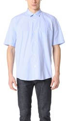 Our Legacy Initial Short Sleeve Shirt Blue