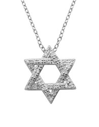 Lord And Taylor Sterling Silver Star Of David Pendant