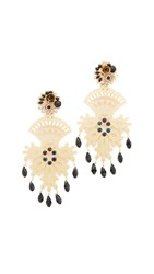 Mercedes Salazar Fiesta Clip On Earrings Gold Black