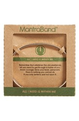 Mantraband Women's All I Need Is Within Me Cuff Bracelet Rose Gold