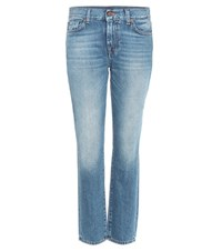 7 For All Mankind Roxanne Mid Rise Jeans Blue