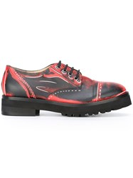 Moschino Trompe L'oeil Derby Shoes Red