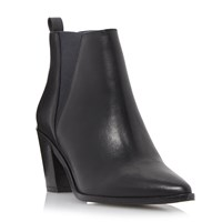 Dune Preslee Pointed Toe V Cut Chelsea Boots Black