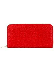 Loewe Zipped Wallet Women Leather One Size Red