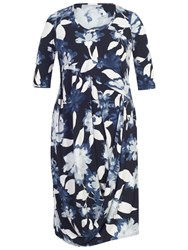 Chesca Floral Print Jersey Dress Navy