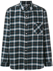 Adaptation Dog Town Embroidered Checked Shirt Black