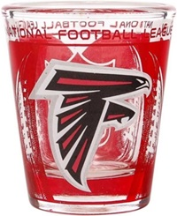 Hunter Manufacturing Atlanta Falcons 3D Wrap Shot Glass Clear