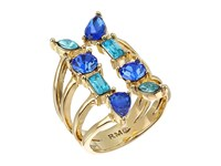 Rebecca Minkoff Multi Stone Wrap Ring Gold Blue Multi Ring
