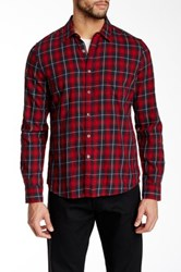 Gilded Age Long Sleeve Plaid Shirt Red