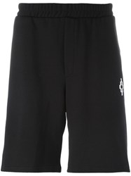 Marcelo Burlon County Of Milan Numbers Print Sweat Shorts Black