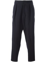 J.W.Anderson Pleat Back Trousers Blue