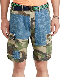 Polo Ralph Lauren Relaxed Fit Patchwork Shorts Camo