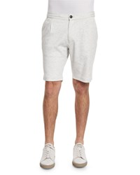 Brunello Cucinelli Knit Spa Shorts Off White Men's Size 56 Xxl Fog Off White Fog Off White
