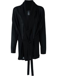 Ann Demeulemeester Shawl Collar Tie Blouse Black