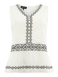 Label Lab Grace Embroidered Top White