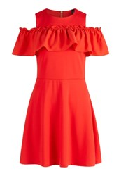 Y.A.S Yas Jersey Dress Tomato Red