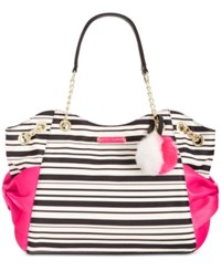 Betsey Johnson Bow Tote Stripe