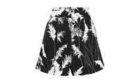 Whistles Pari Print High Waisted Shorts Black And White