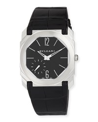 Bulgari 40Mm Bvlgari Octo Platinum Alligator Strap Watch Black