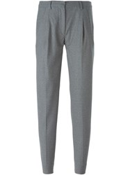 Eleventy Cropped Trousers Grey
