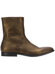 Alexander Mcqueen Classic Ankle Boots Gold
