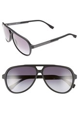 Men's Boss 60Mm Aviator Sunglasses Mt Black Gray Gradient