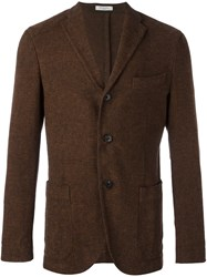 Boglioli Patch Pocket Blazer Brown