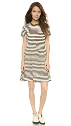 Marc By Marc Jacobs Sketch Stripe T Shirt Dress New Olive Green Multi