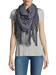 Chan Luu Solid Fringed Scarf Griselle