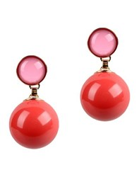 Elie Saab Jewellery Earrings Women Coral