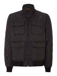 Dockers Quilted Bomber Jacket Black