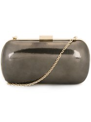 Sergio Rossi Oval Clutch Grey