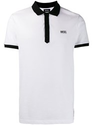 Diesel T Skatt B1 Polo Shirt White