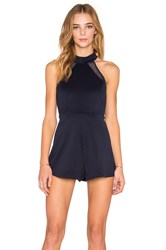 Oh My Love Best Of My Love Racer Front Romper Navy