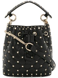 Valentino Rockstud Bucket Bag Black