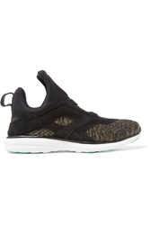 Athletic Propulsion Labs Cielo Suede Trimmed Neoprene And Knitted Sneakers Black