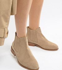 a3feec2ee133 Park Lane Wide Fit Suede Chelsea Boots Stone