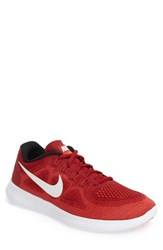 Nike Men's Free Run 2017 Running Shoe Red Off White Track Red