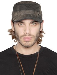 Diesel Tie Dyed Techno Canvas Military Hat