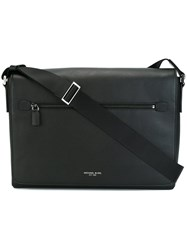 Michael Kors Zip Up Messenger Bag Black