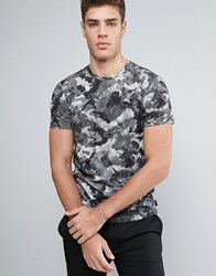 Ted Baker Floral Print T Shirt 03 Charcoal Grey